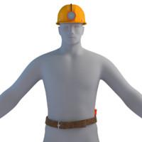 3d miner light model