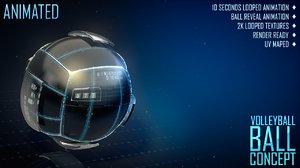 c4d volleyball ball concept