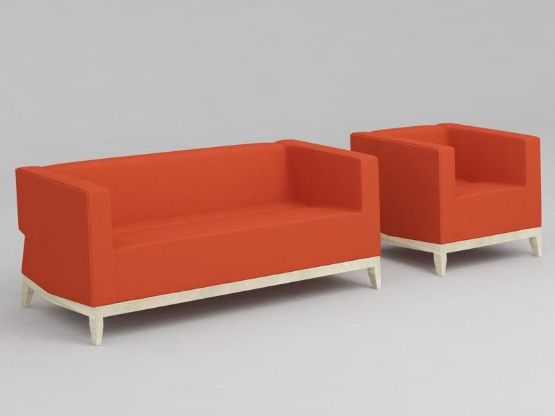 sofa inka billiani 3d model