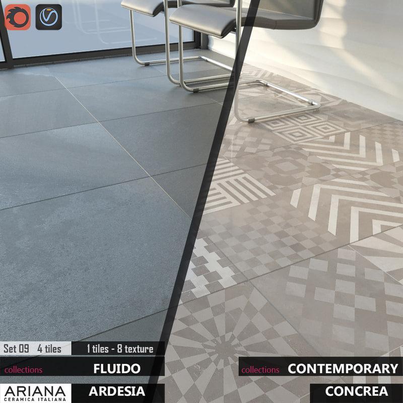 tile ariana concrea imagine 3d max