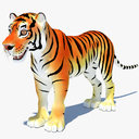 cartoon tiger 3D models