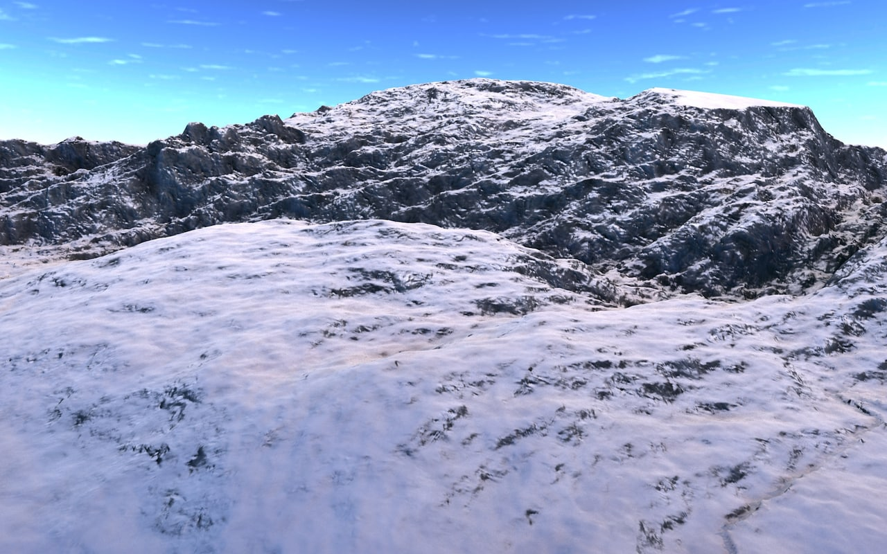 3d model mountain realist montagnes