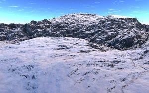 3d model mountain realist montagnes