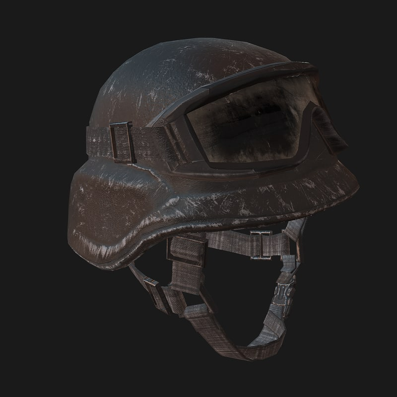 kevlar helmet soldier 3d model