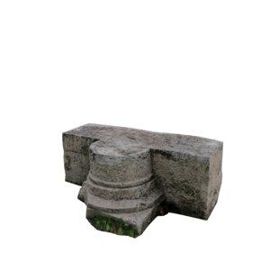 3d model stone block 3