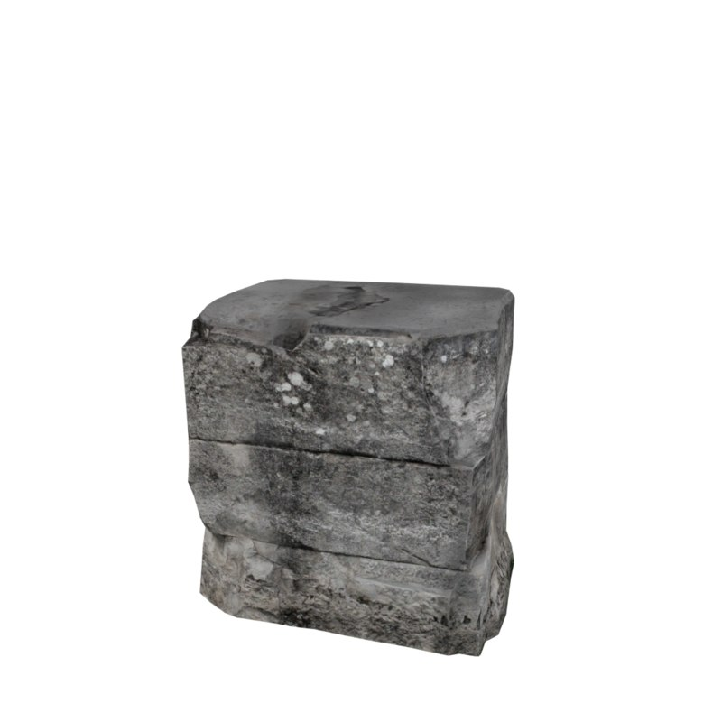 stone block 1 3d model