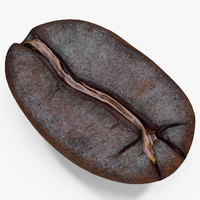 3d roasted coffee bean 3