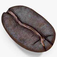 roasted coffee bean 3 obj
