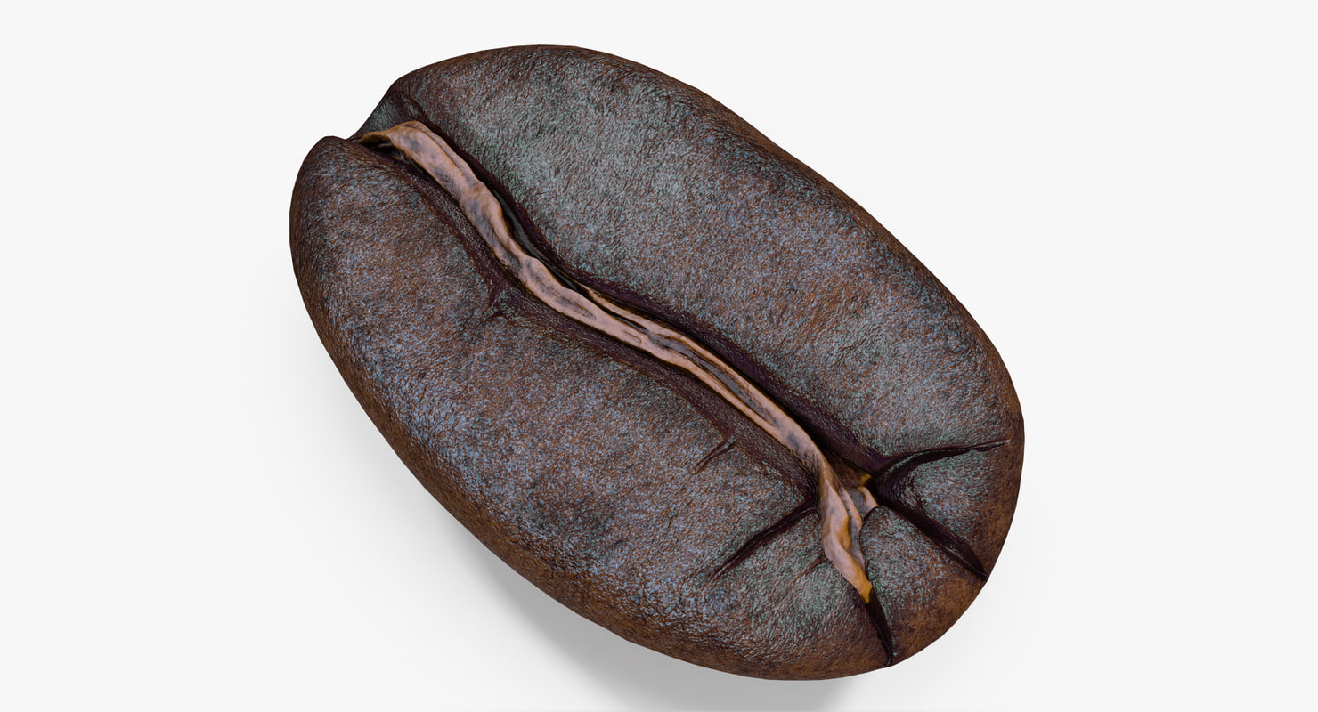 3d roasted coffee bean 3