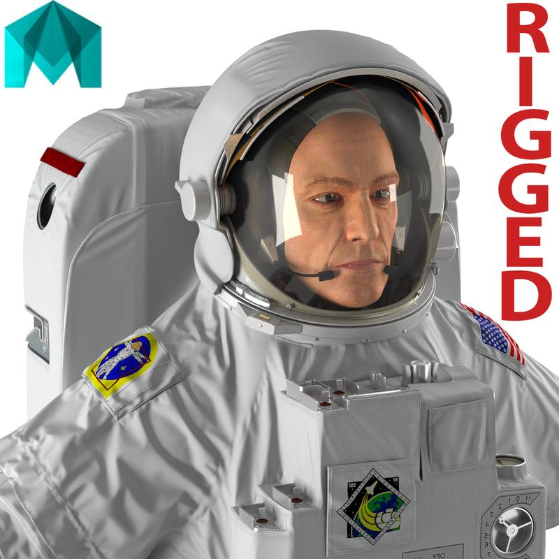 3d model astronaut nasa extravehicular mobility