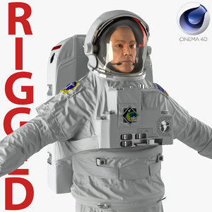 astronaut nasa extravehicular mobility 3d c4d