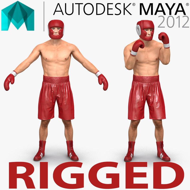 ma boxer man rigged