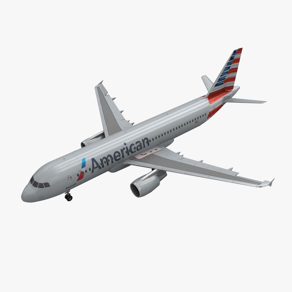 airbus a320 american airlines 3d model