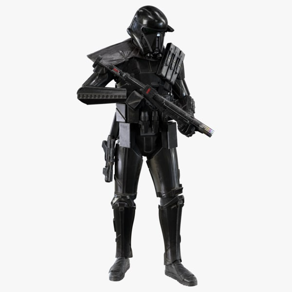 3d model rigged death trooper