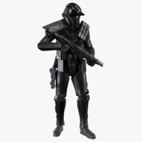 3d model rigged death trooper