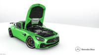 3d mercedes-benz amg gt 2017 model