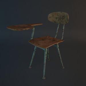 3d max school desk chair