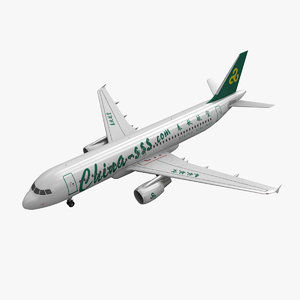 3d model airbus a320 spring airlines