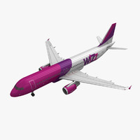 3d airbus a320 wizz air model