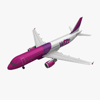 3d model airbus a320 wizz air