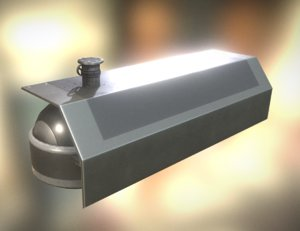 basic version fuel tank 3d obj