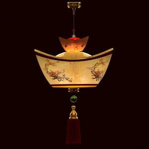 3d chinese lantern gold ingot model