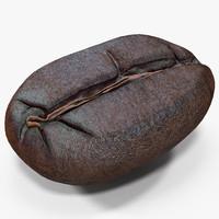 roasted coffee bean 4 3d max