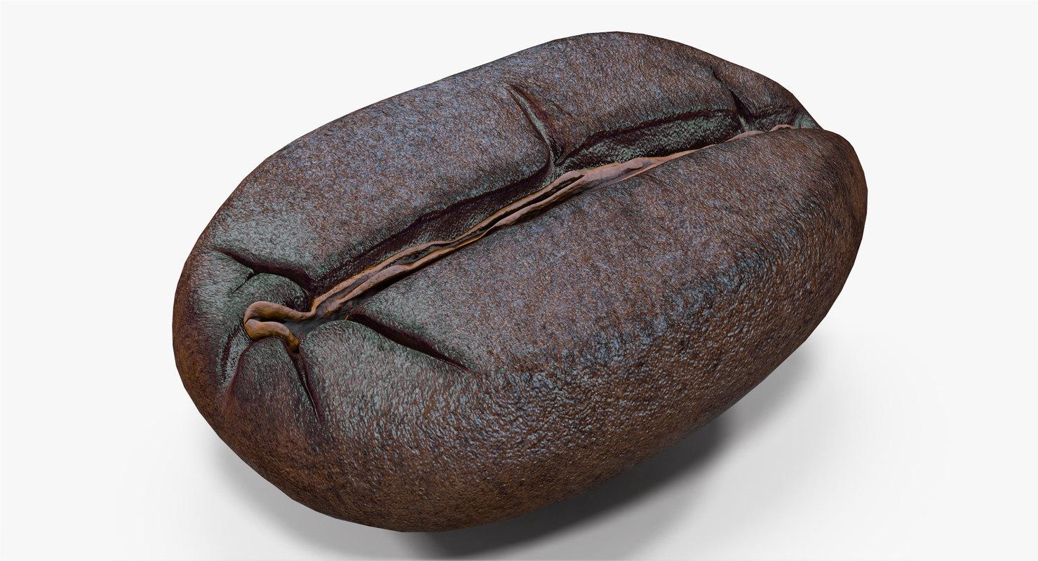 3d roasted coffee bean 4