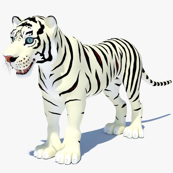 cartoon tiger white max