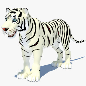 cartoon tiger white max