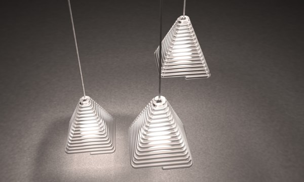 pyramid caustic chandelier 2016 max