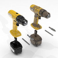 cordless screw screwdrivers 3d model