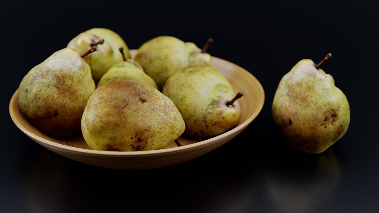 corona scanned fruit 3d model