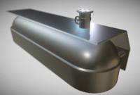 fuel tank 3d dxf