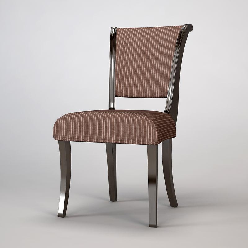 barbara barry chair 3d max