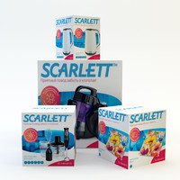 cardboard box set 3d model