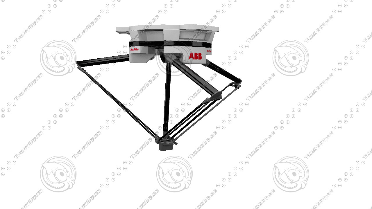 3d spider robot robo model