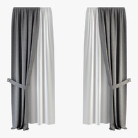 3d curtain tulle model