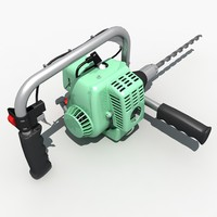 3d electric impact drill model