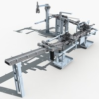 3d max automatic production line