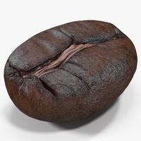 3d roasted coffee bean 6 model