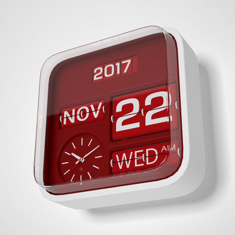 habitat flap clock 3d model