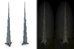 3d model skyscraper ready cityscape