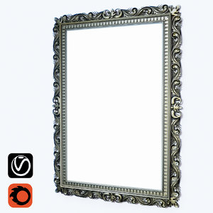 frame mirror painting 3d max