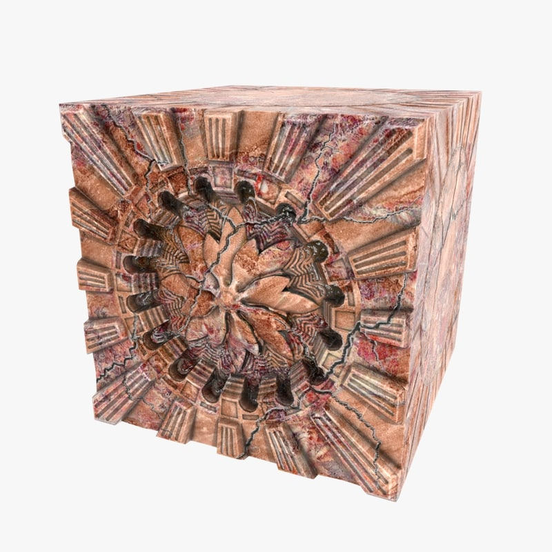 3d cube artifact model