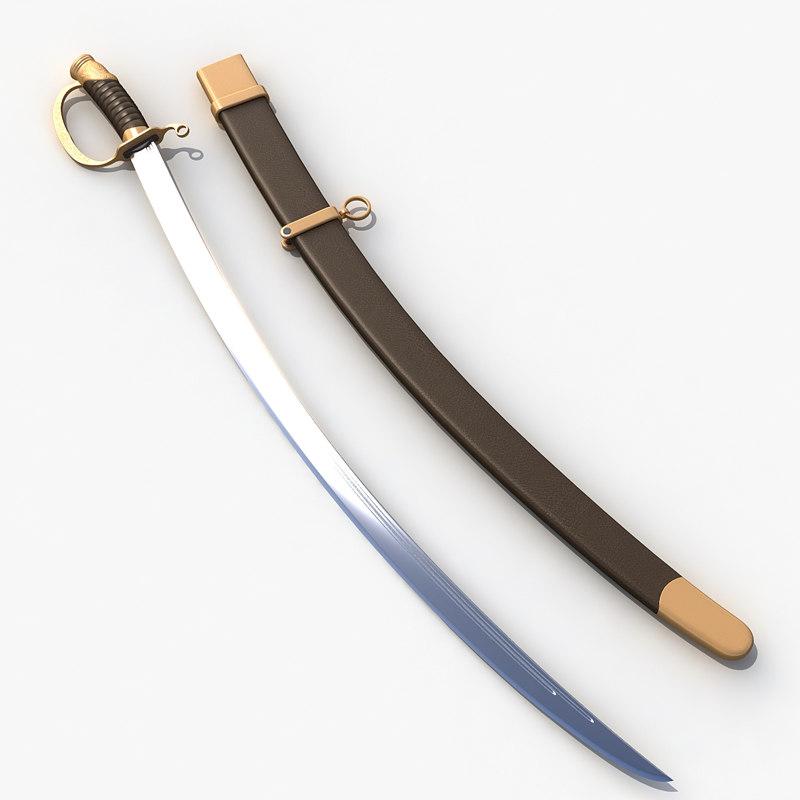 saber sword obj
