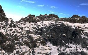 mountain realist montagnes 3d model