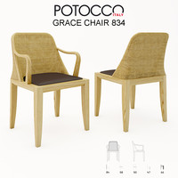 potocco grace chair 834 3d model