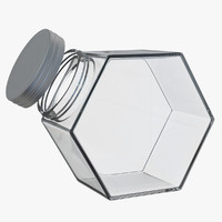 3d hexagon jar model