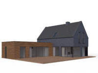 modern family house 3d x